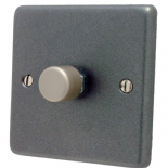 Standard Plate Pewter Dimmer Switches